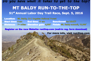 Mt. Baldy Run-to-the-Top | Sept. 5, 2016