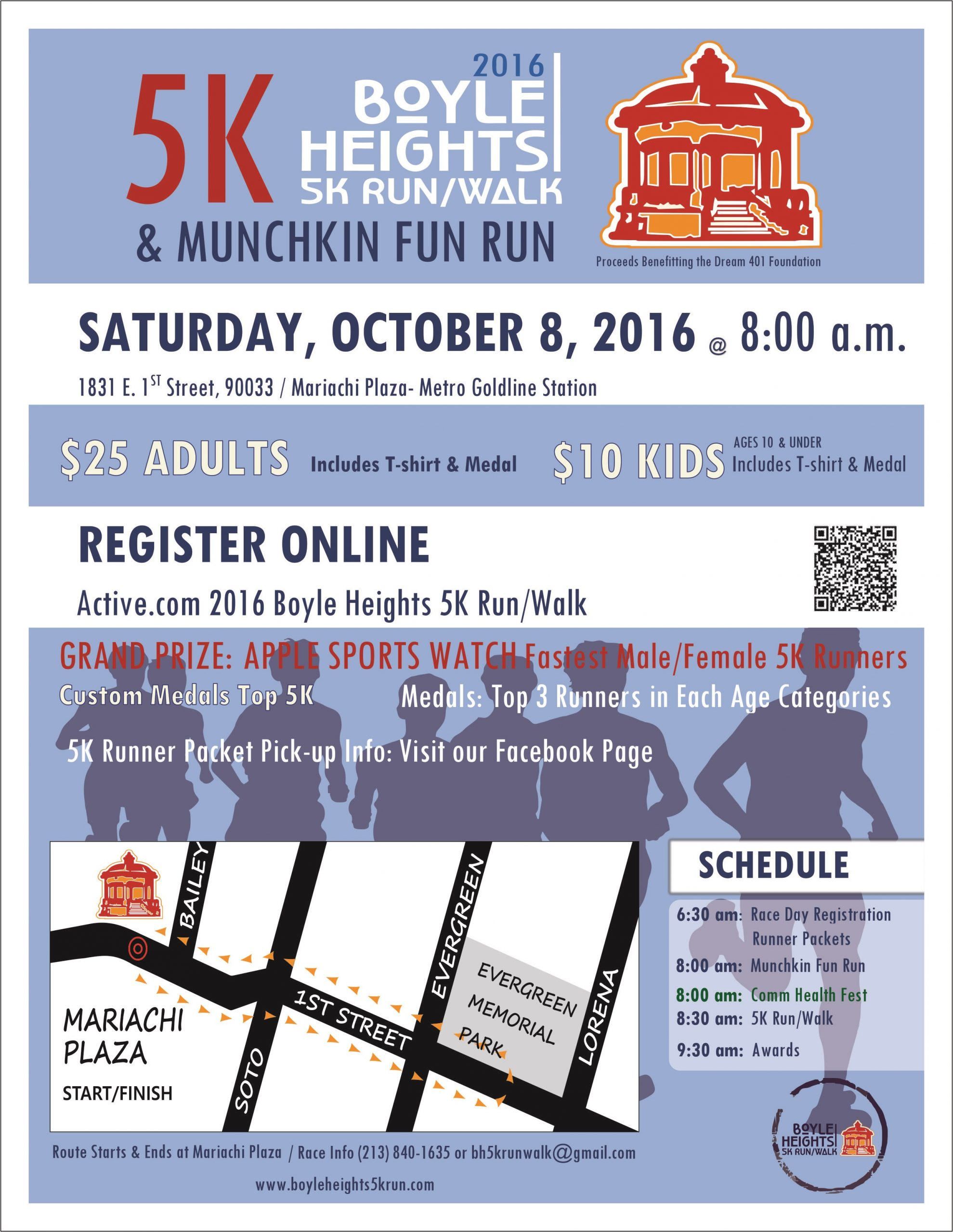 Boyle Heights 5K flyer Front