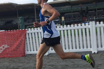 Simon Schmidt raced to 1st place at the Derby Day 5k!