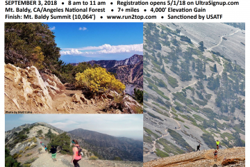 Mt Baldy Run-To-The-Top Announced – 9/3