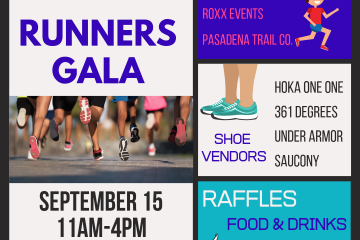 Runners Gala Event on Sept 15
