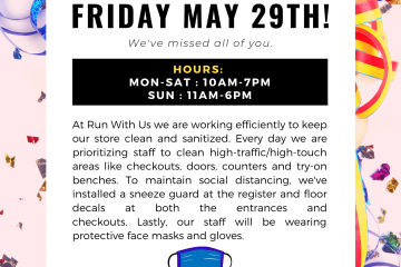 We're Reopening May 29th!