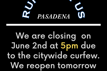 Closing at 5pm on June 2nd